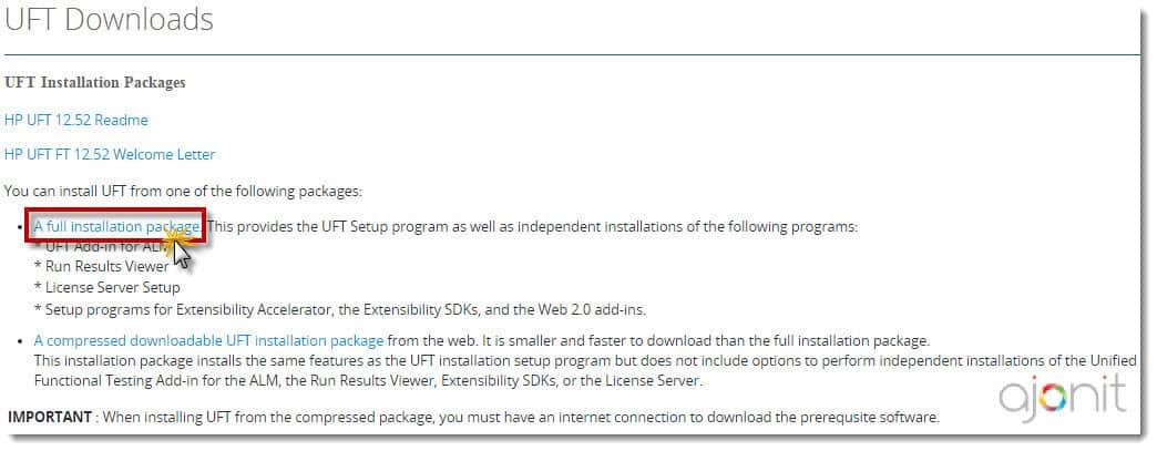 UFT 12.52 download