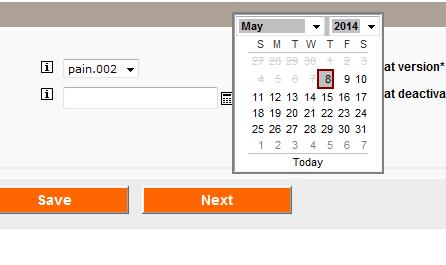 select a date from pop-up calendar