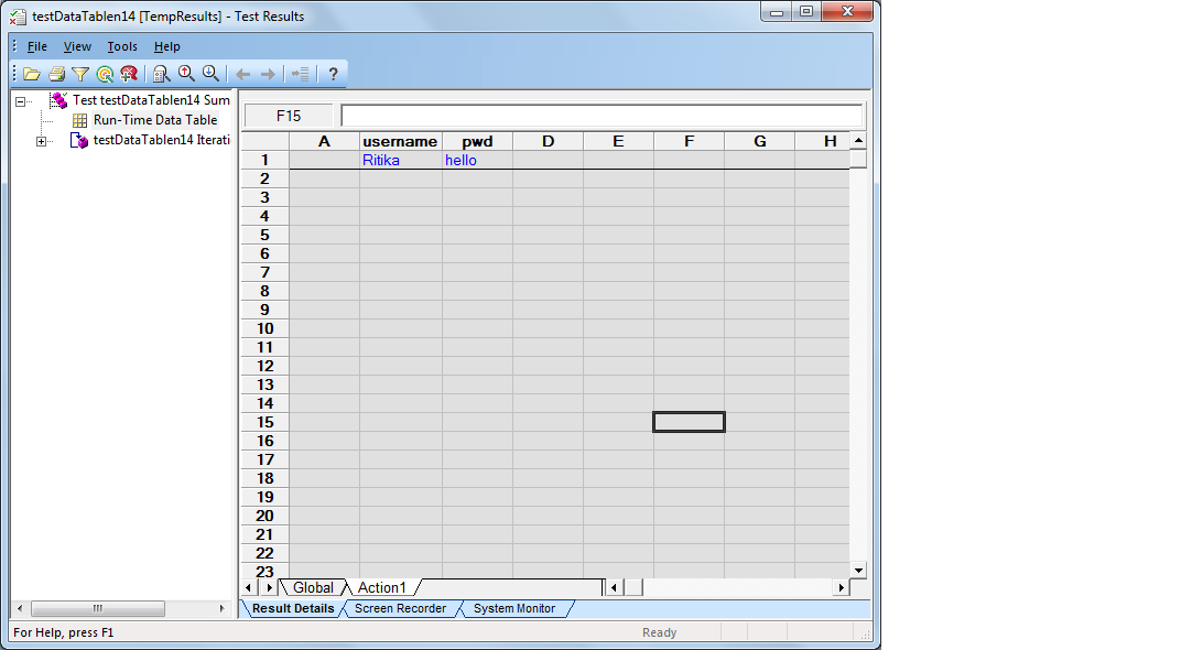 AddParameter method does not add in first column of datatable