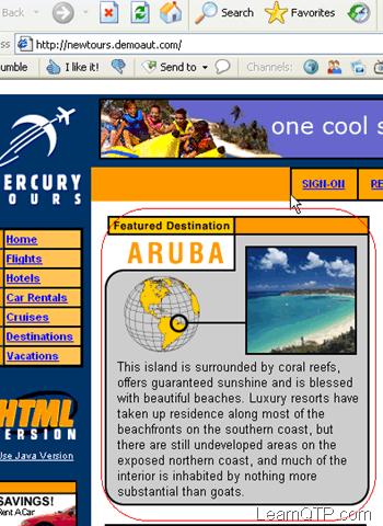 Mercury demo application page