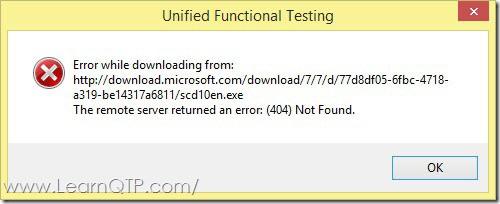 Microsoft Script Debugger Error in New UFT Installations