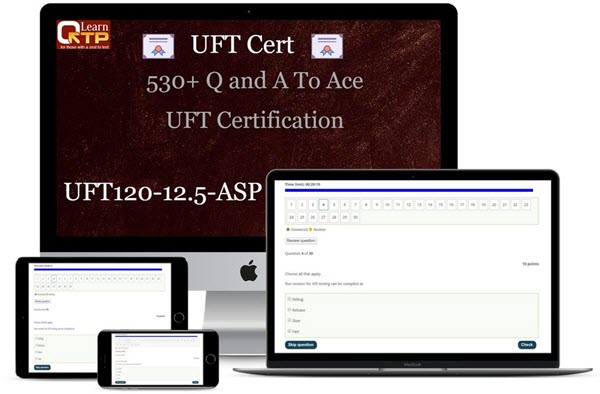 UFT120-12.5-ASP: UFT Certification 12.5 Mock Questions and Answers